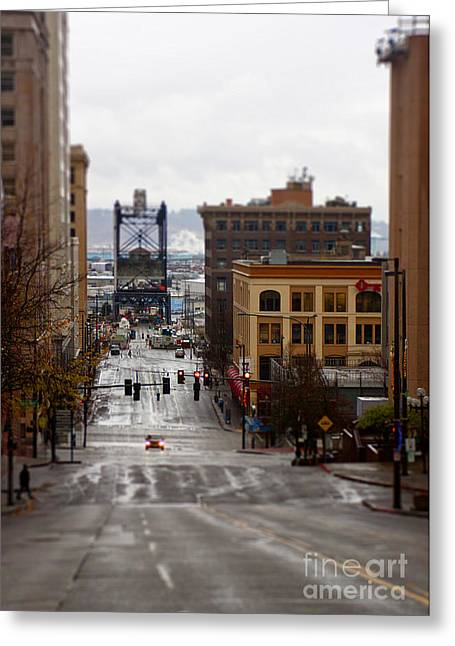 Downtown Greeting Card by Billie-Jo Miller
