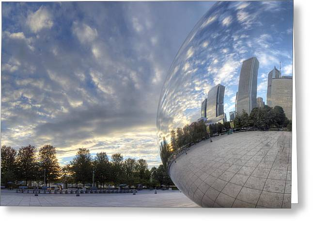 Downtown Chicago At Dawn Greeting Card by Twenty Two North Photography