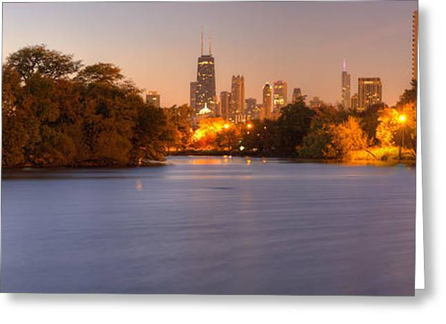 Downtown Chicago From Lincoln Park Greeting Card by Twenty Two North Photography