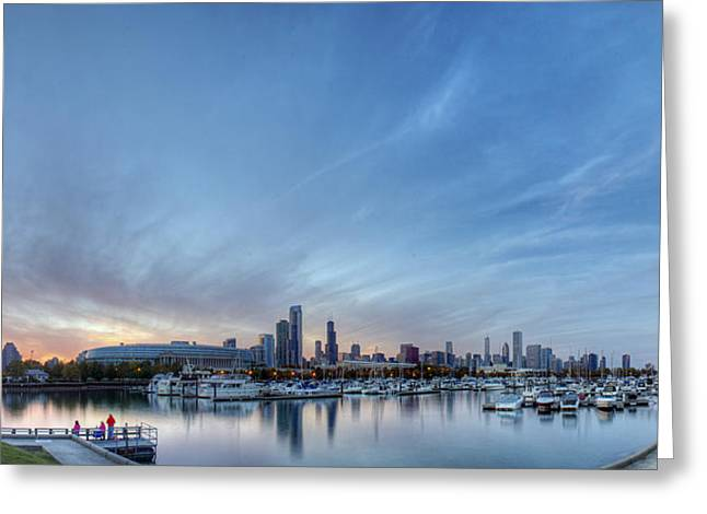 Downtown Chicao From Northerly Island Greeting Card