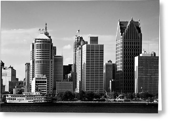 Downtown Detroit Greeting Card by James Marvin Phelps