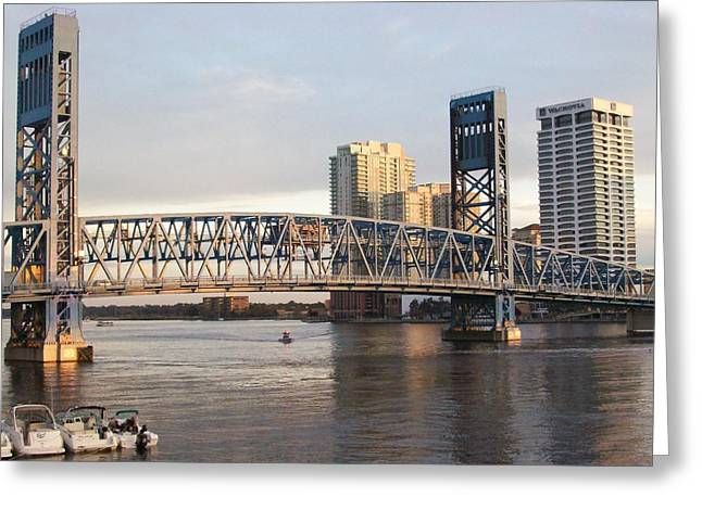 Downtown Jacksonville Greeting Card by Tiffney Heaning