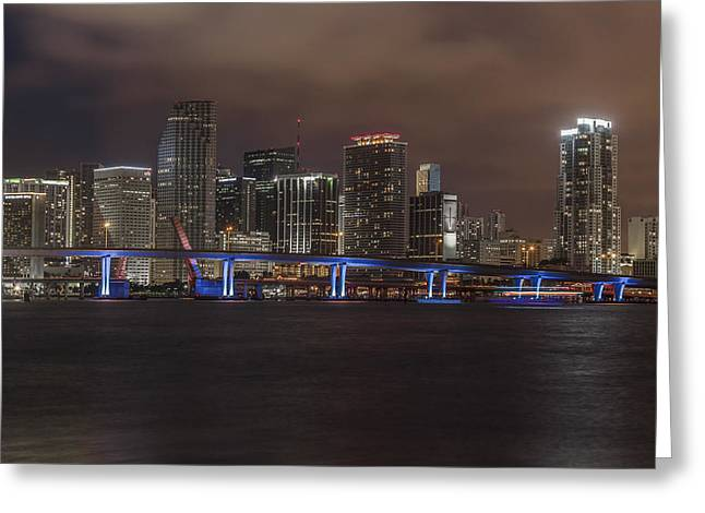 Downtown Miami 2012 Greeting Card by Dan Vidal