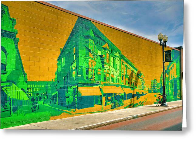 Downtown Mural IIi Greeting Card by Steven Ainsworth