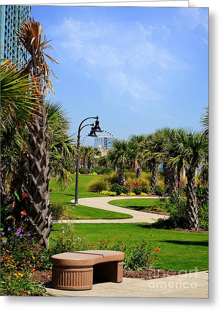 Greeting Card featuring the photograph Downtown Myrtle Beach by Kathy Baccari