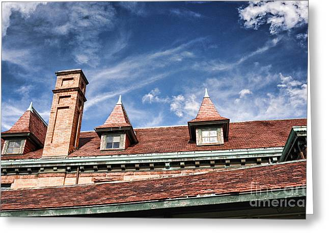 Downtown Northampton - Rooftop Greeting Card