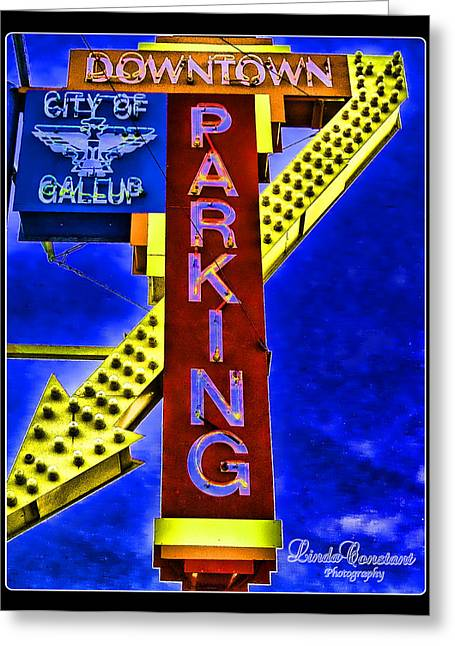Downtown Parking Greeting Card