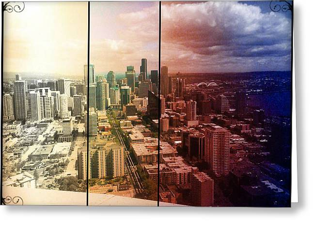 Downtown Seattle Greeting Card by Lee Yang