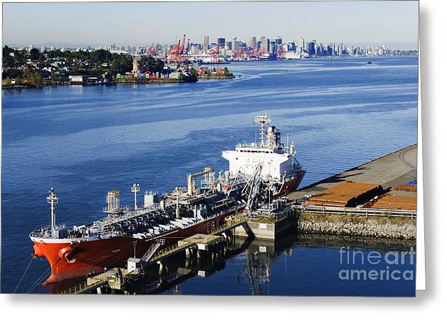 Downtown Vancouver Seen From Dockside Greeting Card by Jeremy Woodhouse