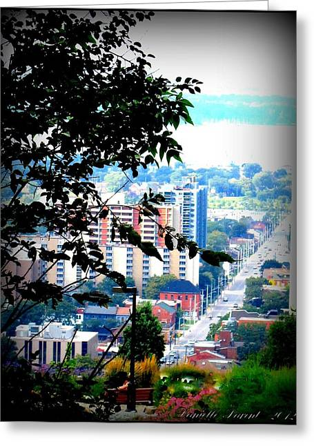 Greeting Card featuring the photograph Downtown View From Hamilton Mountain  by Danielle  Parent