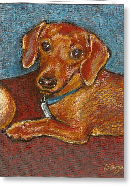 Doxie Ball Greeting Card