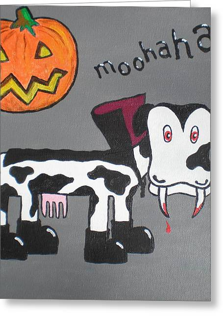 Dracula Greeting Card by Sheep McTavish