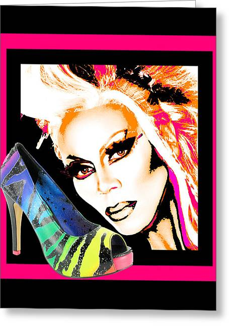 Drag And Stilettos Greeting Card