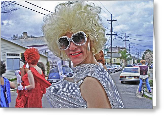 Drag Queen Supreme In New Orleans Greeting Card