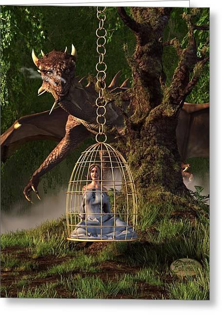 Dragon Bait Greeting Card by Daniel Eskridge