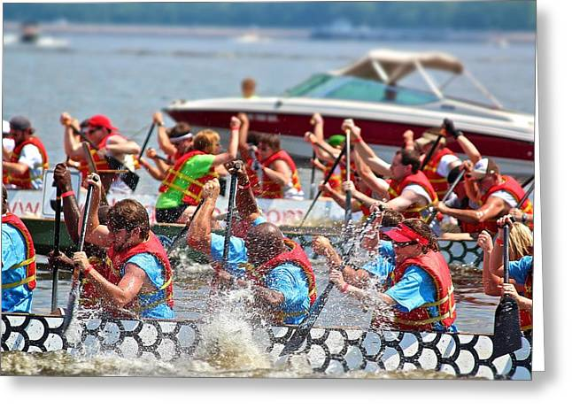 Greeting Card featuring the photograph Dragon Boat Regatta 2 by Jim Albritton