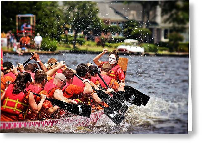 Greeting Card featuring the photograph Dragon Boat Regatta  by Jim Albritton