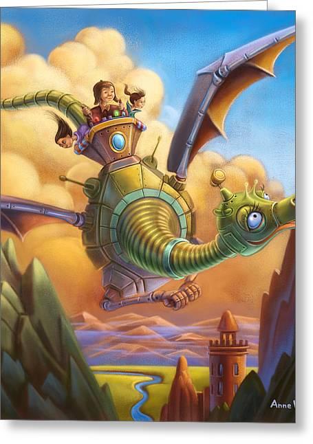 Dragon Contraption Greeting Card