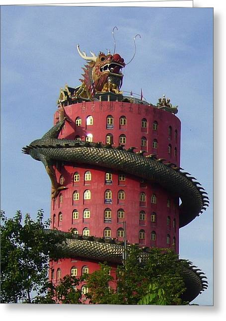 Dragon Temple Greeting Card by Gregory Smith