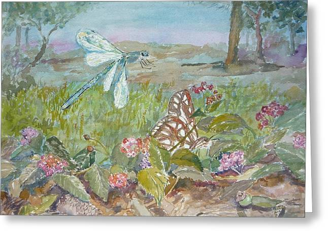Dragonfly Greeting Card by Dorothy Herron