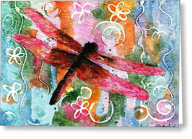 Dragonfly Fairy I Greeting Card by Miriam Schulman