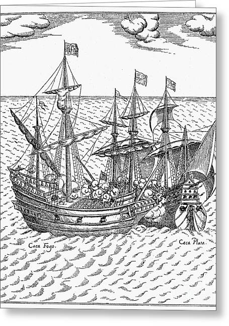 Drake: Golden Hind, 1579 Greeting Card by Granger