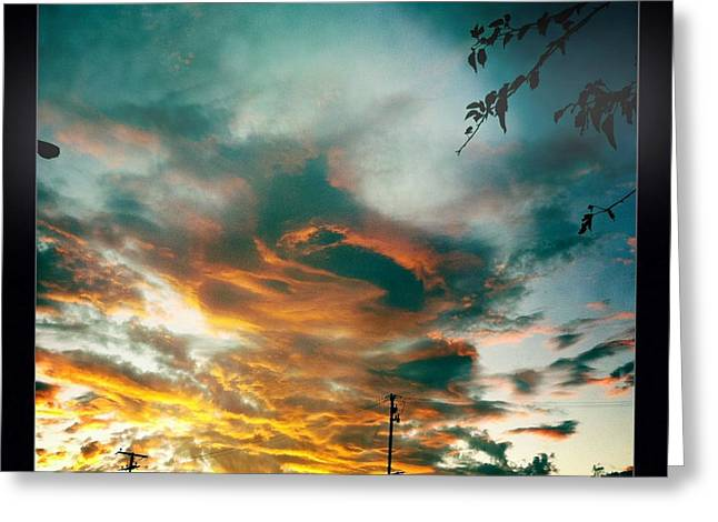 Greeting Card featuring the photograph Drama In The Sky by Nina Prommer