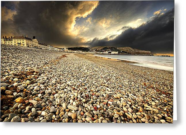 Drama Over Llandudno Greeting Card