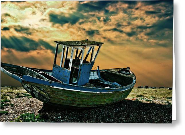 Dramatic Dungeness Greeting Card