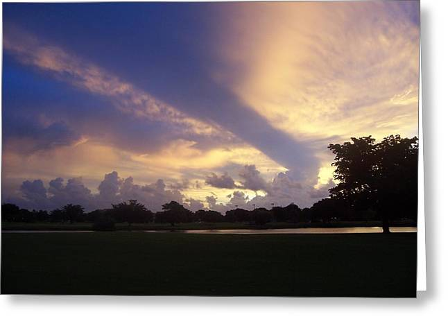 Dramatic Sky Greeting Card by Sheila Silverstein