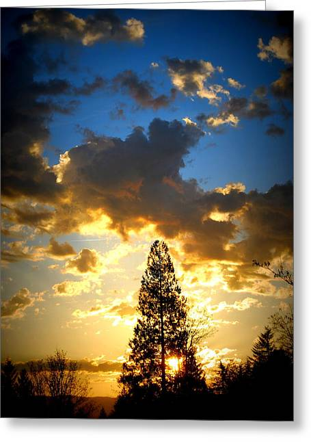 Dramatic Sunrise II Greeting Card