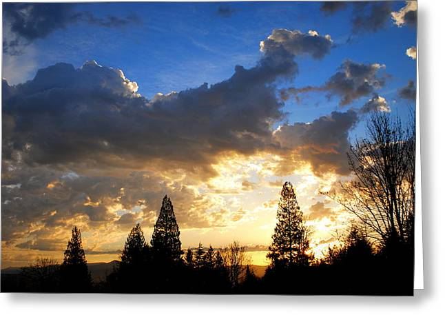 Dramatic Sunrise  Greeting Card