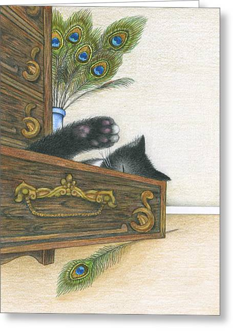 Drawer Greeting Card by Diana Lehr