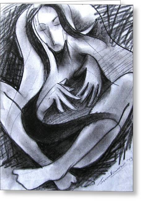 Drawing 004 Greeting Card by Sunil Kumar
