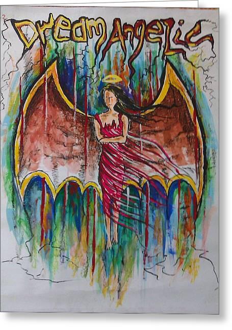 Dream Angelic Greeting Card by Rohit Kumar