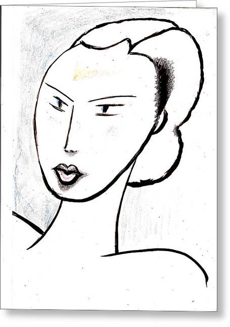 Dream Girl Greeting Card by Al Goldfarb
