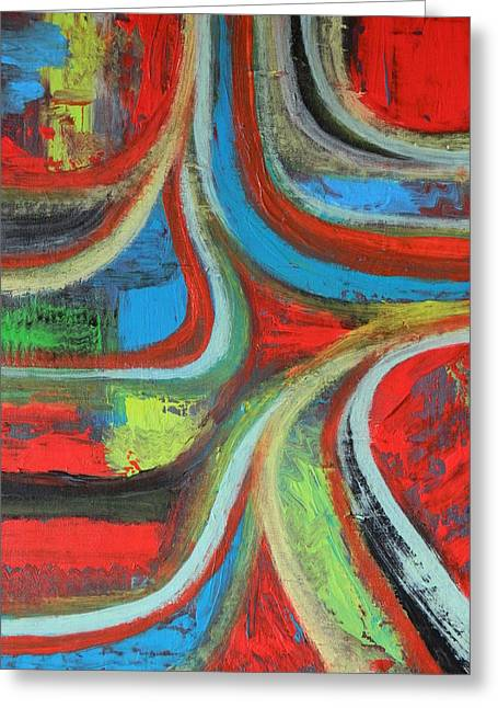 Greeting Card featuring the painting Dream Highway by Everette McMahan jr