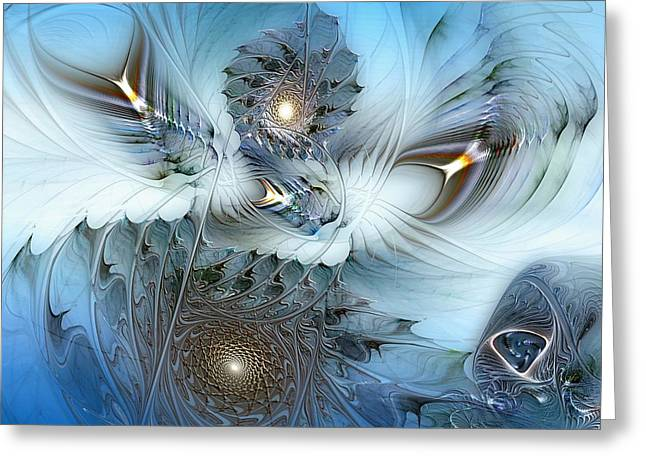 Greeting Card featuring the digital art Dream Journey by Casey Kotas