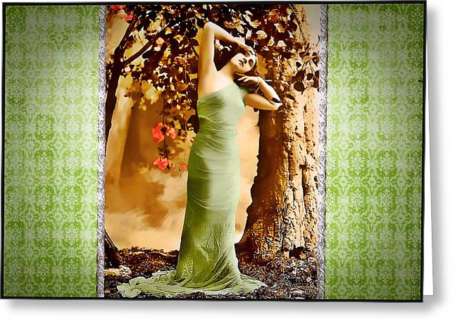 Greeting Card featuring the photograph Dream Of The Night II by Mary Morawska