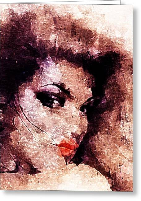 Greeting Card featuring the digital art Dreamgirl by Andrea Barbieri