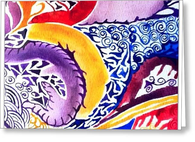 Dreaming In Watercolors Greeting Card