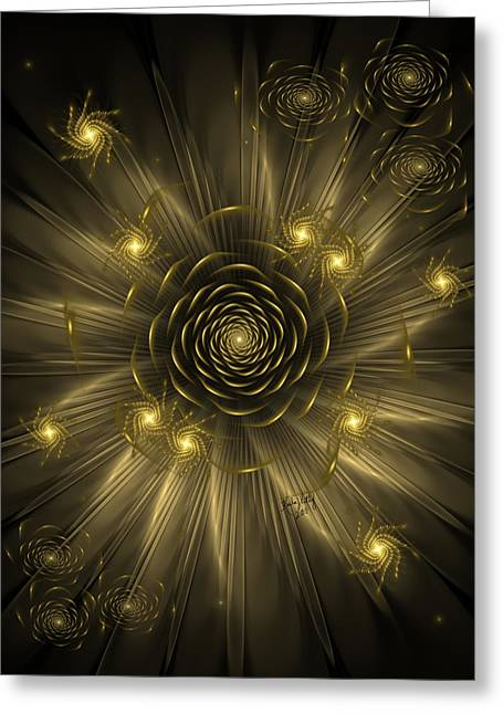 Dreaming Of Gold Greeting Card