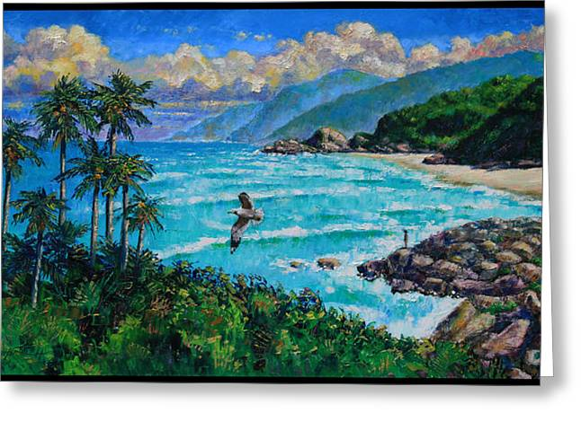 Dreaming Of Vietnam Greeting Card by John Lautermilch