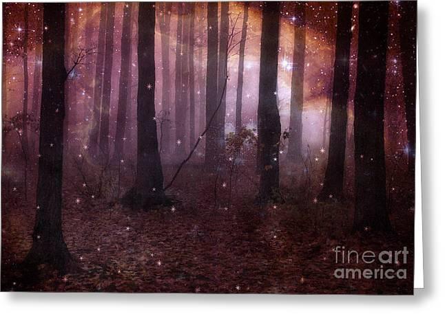 Dreamland Surreal Fantasy Tree Woodlands Greeting Card