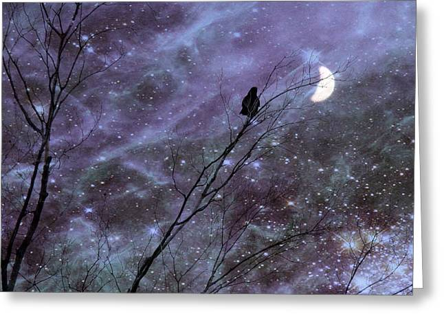 Dreams Of A Crow Greeting Card by Gothicrow Images
