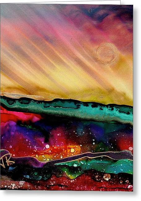 Dreamscape No. 190 Greeting Card by June Rollins