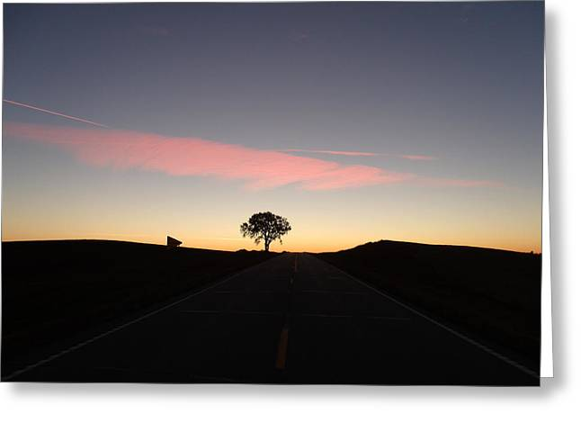 Dreamy Tree Road Greeting Card