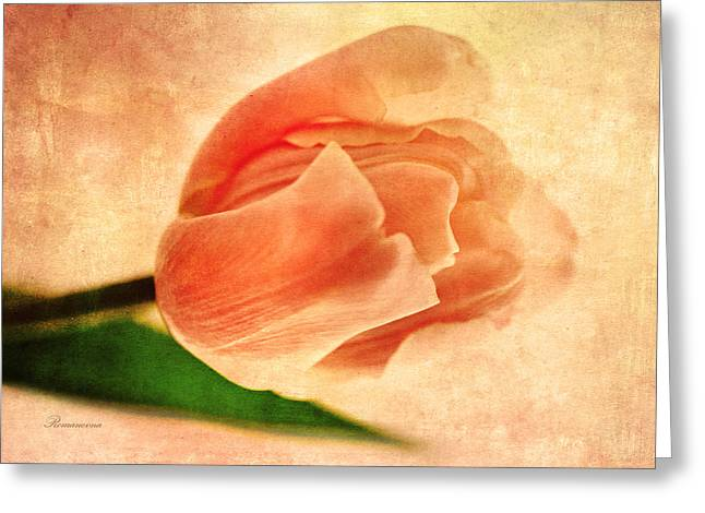 Dreamy Vintage Tulip Greeting Card by Georgiana Romanovna