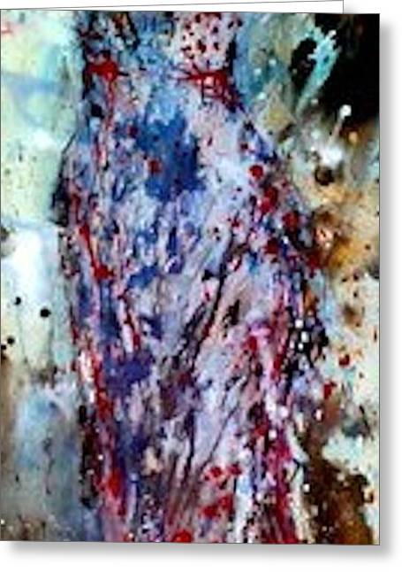 Abstract Expressionist Greeting Cards - Dress Series 2 Greeting Card by Holly  Suzanne