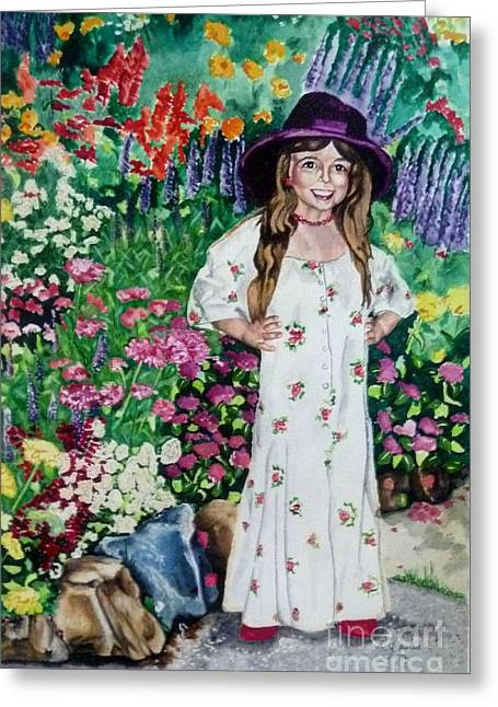 Dress Up In The Garden Greeting Card